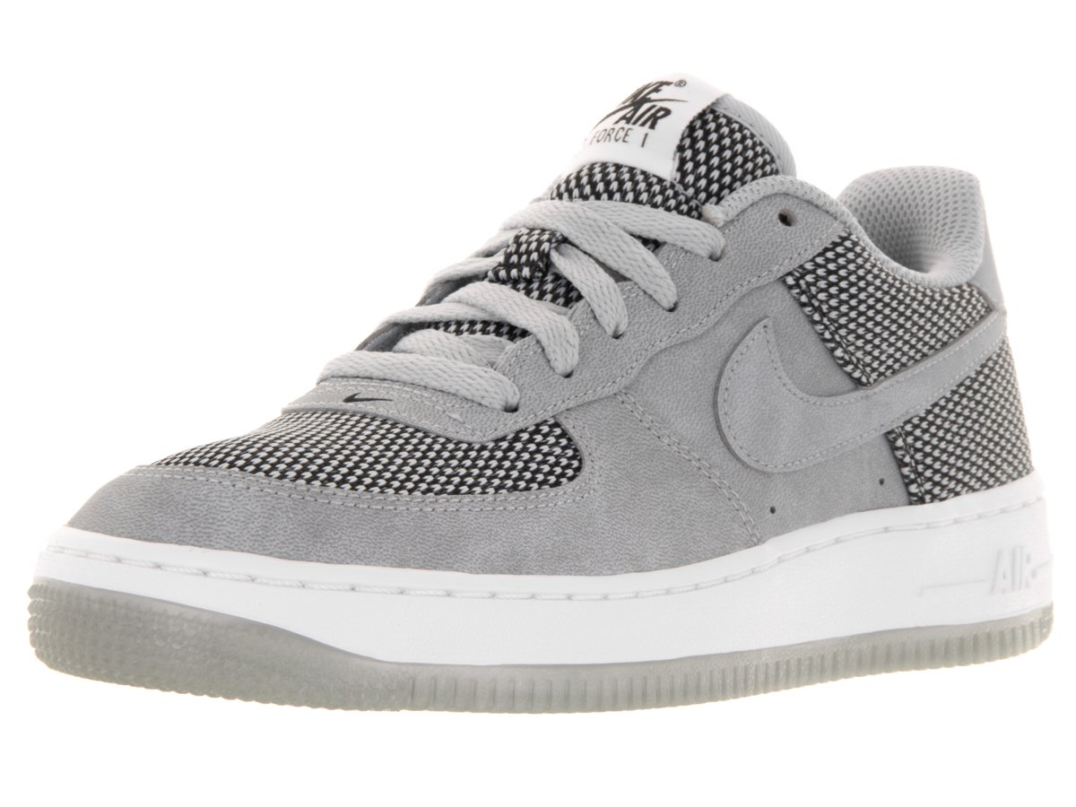 NIKE Air Force 1 Premium Boy's Casual Shoes Size US 5, Regular Width, Gray/White