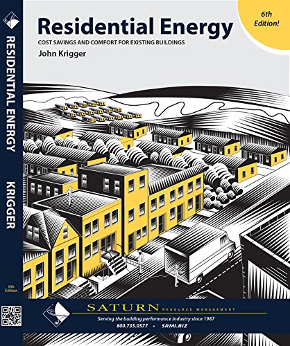 Residential Energy Cost Savings And Comfort For Existing Buildings  6Th Ed