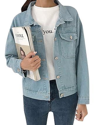 veste en jean clair longue femme