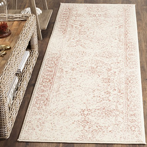 Safavieh Adirondack Collection ADR109H Ivory and Rose Oriental Vintage Distressed Runner (2'6 x 12') Vintage Rose Collection