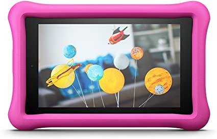 Amazon FreeTime - Funda infantil para Fire 7 (tablet de 7 pulgadas, 7ª generación, modelo de 2017), Rosa - no es compatible con el modelo del 2019 (9.ª generación): Amazon.es
