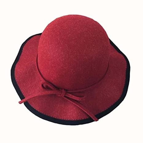 Amazon.com  East Majik Floppy Hat Bowler Hat Wide Brim Hat Red ... 069e3d10817