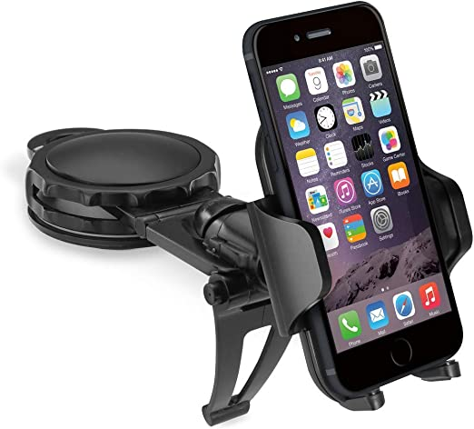 Macally Universal Car Air Vent Phone Holder Mount for iPhone Xs XS Max X 8 8 Plus 7 7 Plus SE 6s 6 Plus 6 5s 5 4s 4 Samsung Galaxy S10 S9 S8 S7 LG Nexus Sony Nokia etc.