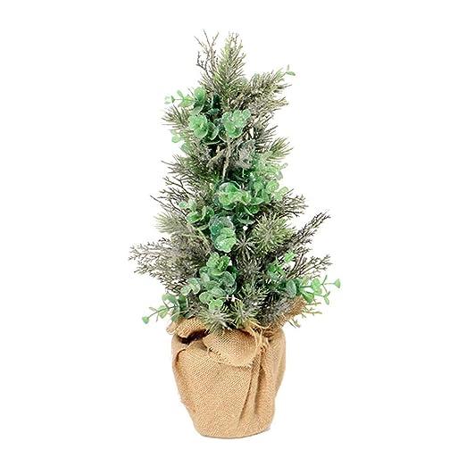 Tingtin artificial Bonsai, hojas de eucalipto falsas para mesa ...