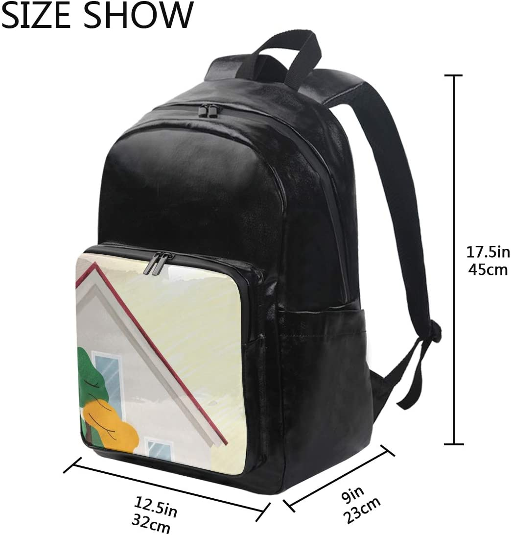 Holds 12.5-inch Laptop Hut Student Backpacks College School Book Bag Travel Hiking Camping Daypack for boy for Girl 12.5x9x17.5