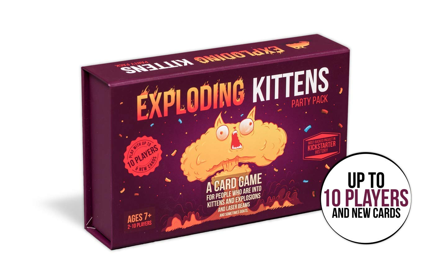 Exploding Kittens Party Pack Game - Play Exploding Kittens with up to 10 Players! by Exploding Kittens LLC (Image #2)