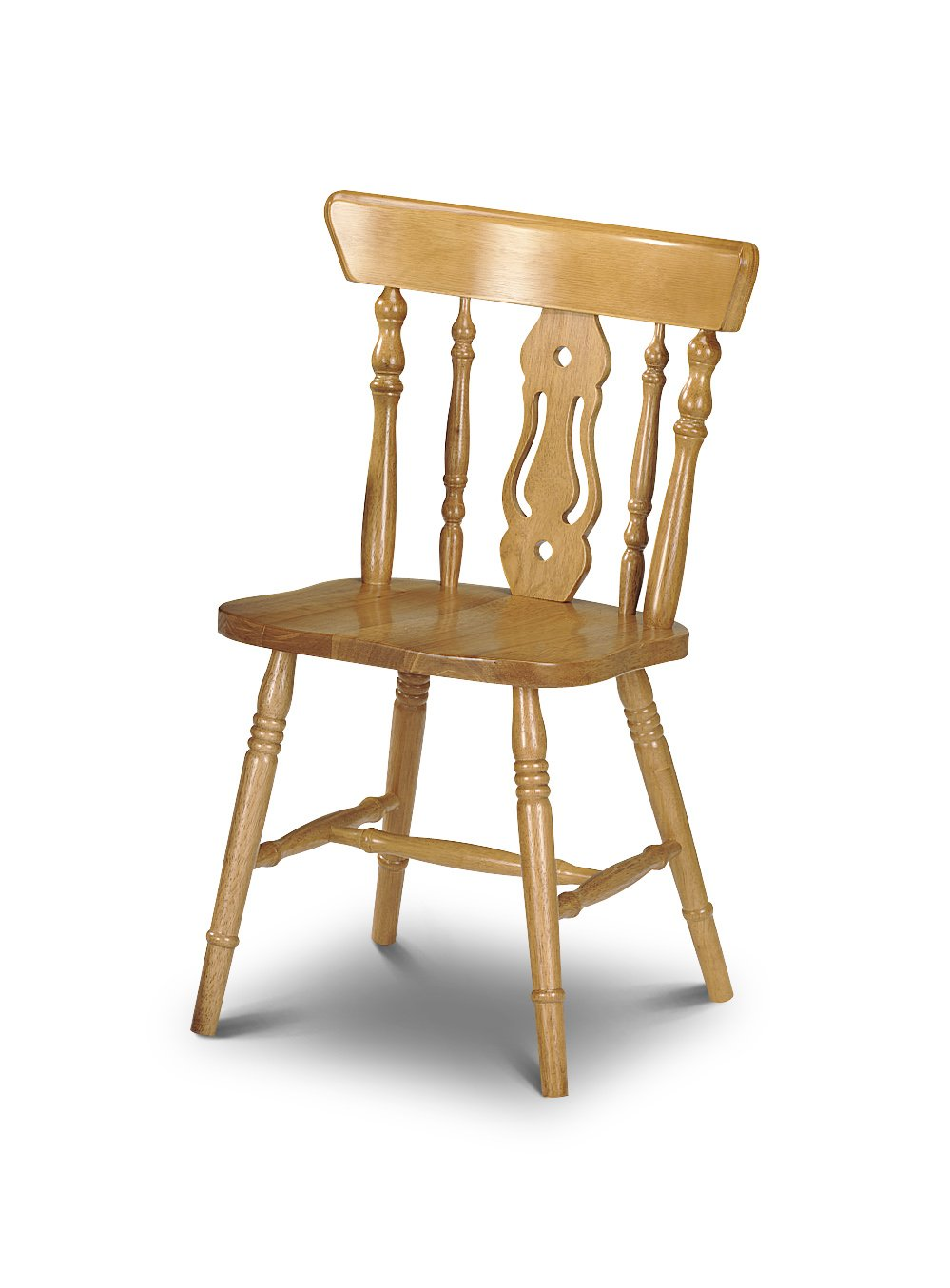 New Solid Beech Spindle Back Wooden Kitchen Chairs: Amazon.co.uk ...