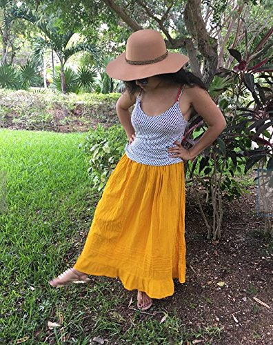 Mexican yellow maxi long skirt