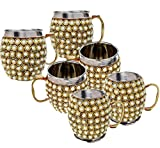Rastogi Handicrafts Stainless Steel Beer , Vodka, Wine, Cocktail, Mocktail , Juice , Cold drink Mule Moscow Mug -Cup (6)