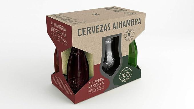 Alhambra - Cervezas, Estuche de 6 x 330 ml con copa: Amazon.es: Alimentación y bebidas