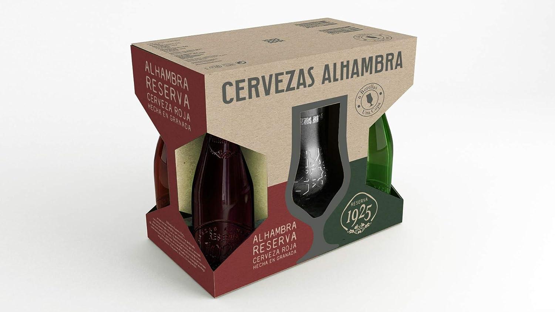 Alhambra - Cervezas, Estuche de 6 x 330 ml con copa: Amazon ...