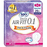 Sofy Body Fit Extra Slim 0.1 Night 29cm Wing 16s, 16 count