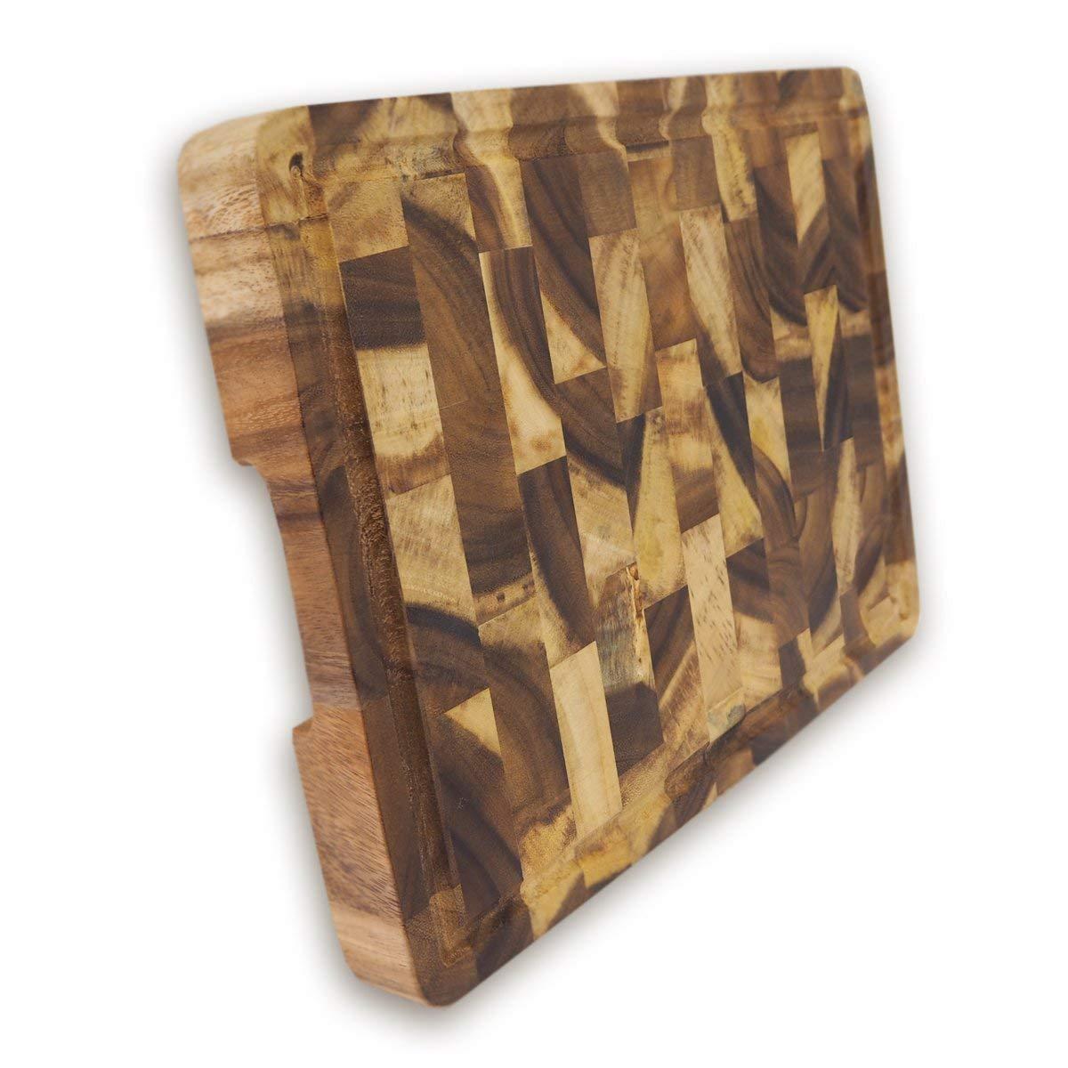 roro Rectangular End-Grain Acacia Kitchen Wood Cutting Board and Block by roro (Image #1)