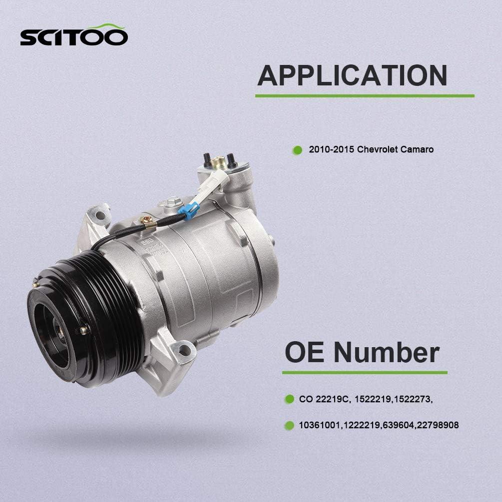 For 2010-2015 11-14 Chevrolet Camaro 3.6 L GAS V6 SOHC CO 22219C A//C Compressor