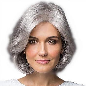 Amazon.com: Beaty Older Women Short Curly Wavy Synthetic ...