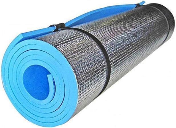 DierCosy Camping Mat Película de aluminio EVA a prueba de humedad para tienda de campaña, esterilla de dormir gruesa portátil Esterilla de yoga al ...