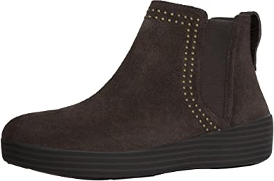 990841c8d9 Image Unavailable. FitFlop Women s Superchelsea Suede Boot w Studs Chocolate  ...