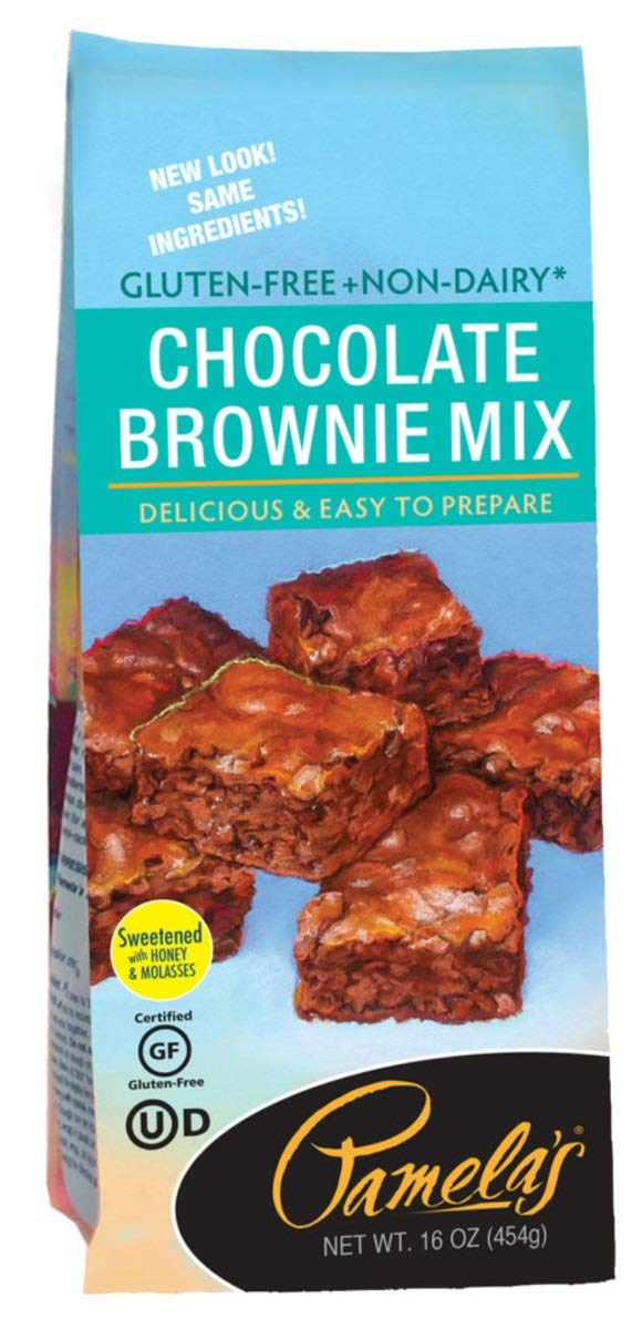 5 Savers Package:Pamela's Chocolate Brownie Mix Gluten Free (6x16 Oz) by Pamela's Products