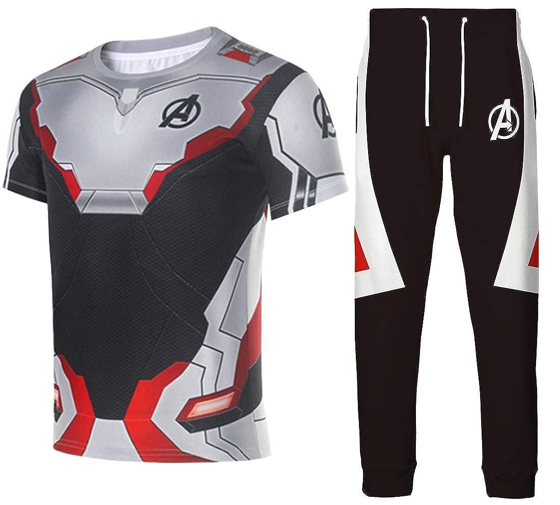 Bettydom Boys Quantum Realm T-Shirt Tops with Pants Movie Avengers Endgame Super Heroes Pants Clothes SetsEndgame