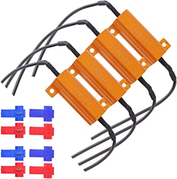 with 8pcs Quick Wire Clips Especially for 1157 White//Amber Switchback LED Grandview 4pcs 50W 6Ohm LED Load Resistors for 1157 BAY15D LED Turn Signal Lights Fix Hyper Flash, Warning Cancellor