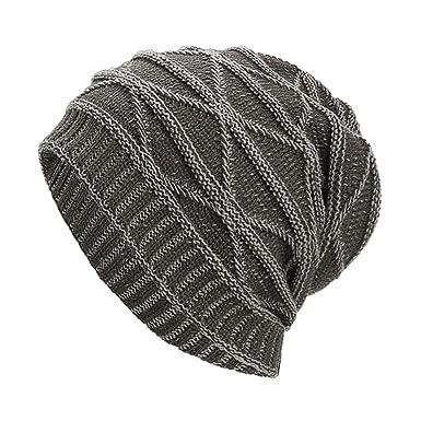 Skang Frauen Männer Warme Baggy Weave Häkeln Winter Wolle Stricken