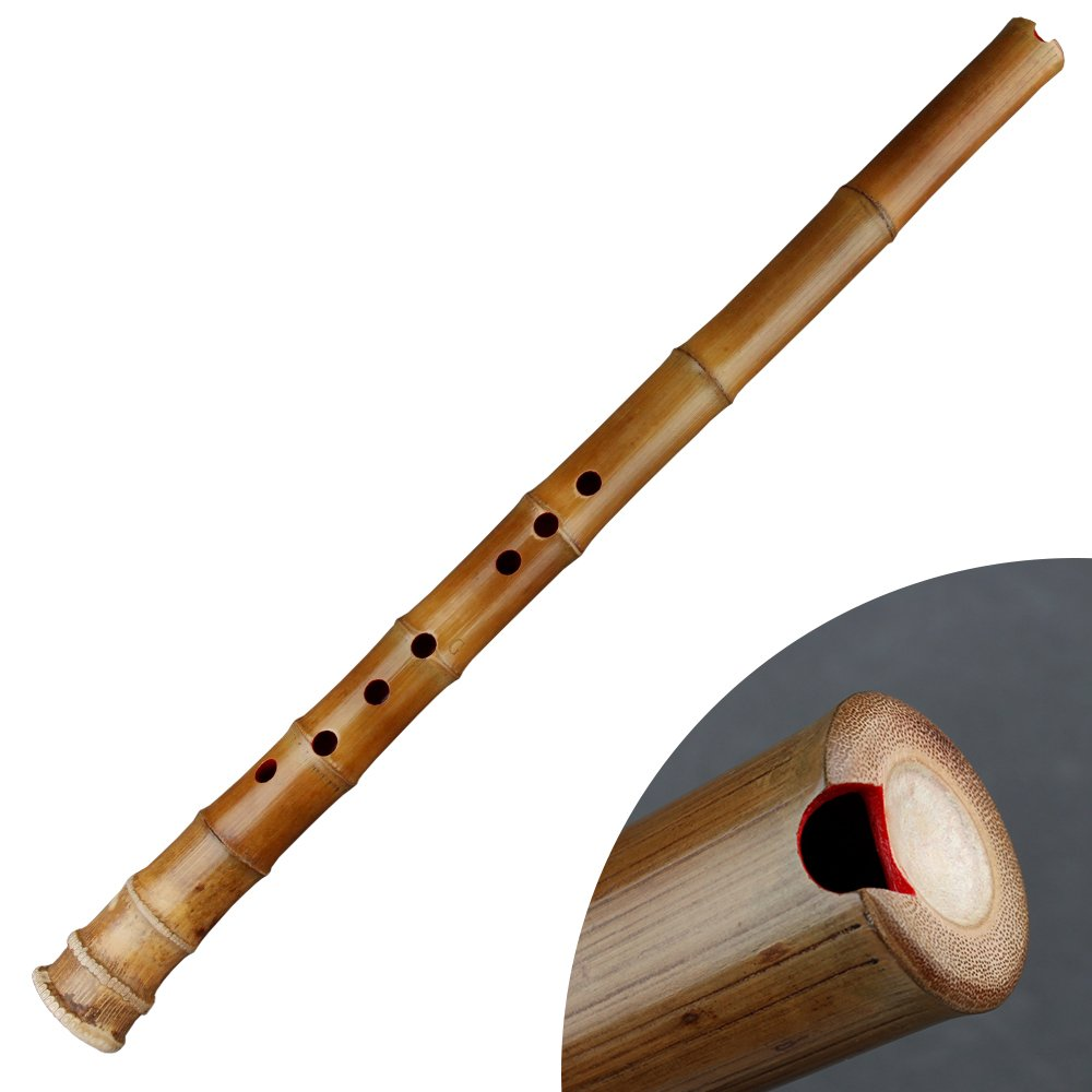Traditional Musical Instrument GF Key 8 Holes Natural bamboo Flute called Xiao (F Key)