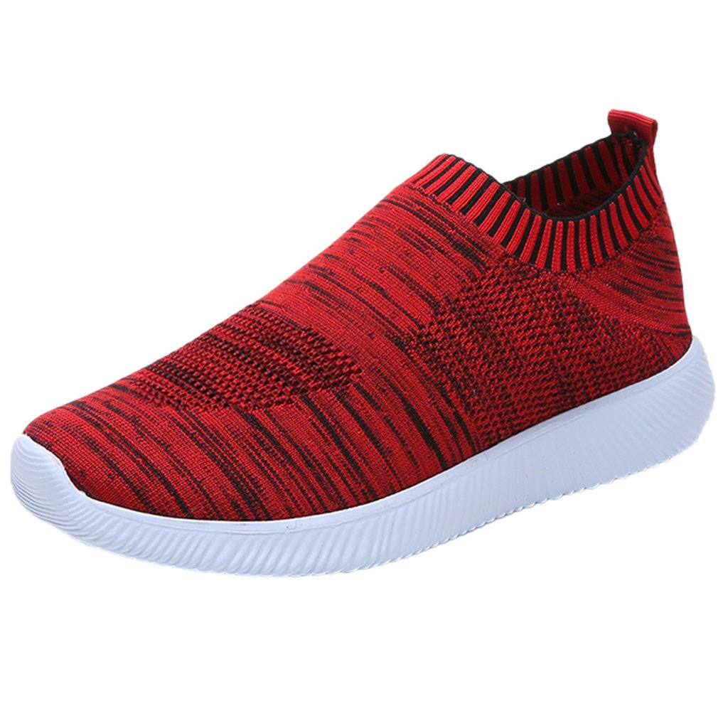 WugeshangmaoWomen's Fashion Sneakers Breathable,Sport Shoes for Women,Teen Girls' Mesh Comfortable Running Shoes Red