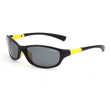 JM Polarisiert Sport Sonnenbrille Damen Herren Baseball Laufen Radfahren Angeln Golf(Orange/Polarisiertes Grau) OilMY0n0IO