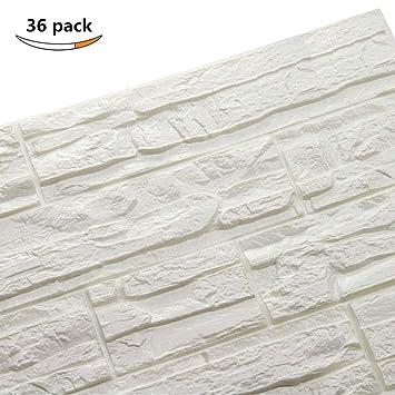 5stk Wandpaneele 3D Selbstklebend Steinoptik Wand Tapete 70cm*77cm*10mm DHL