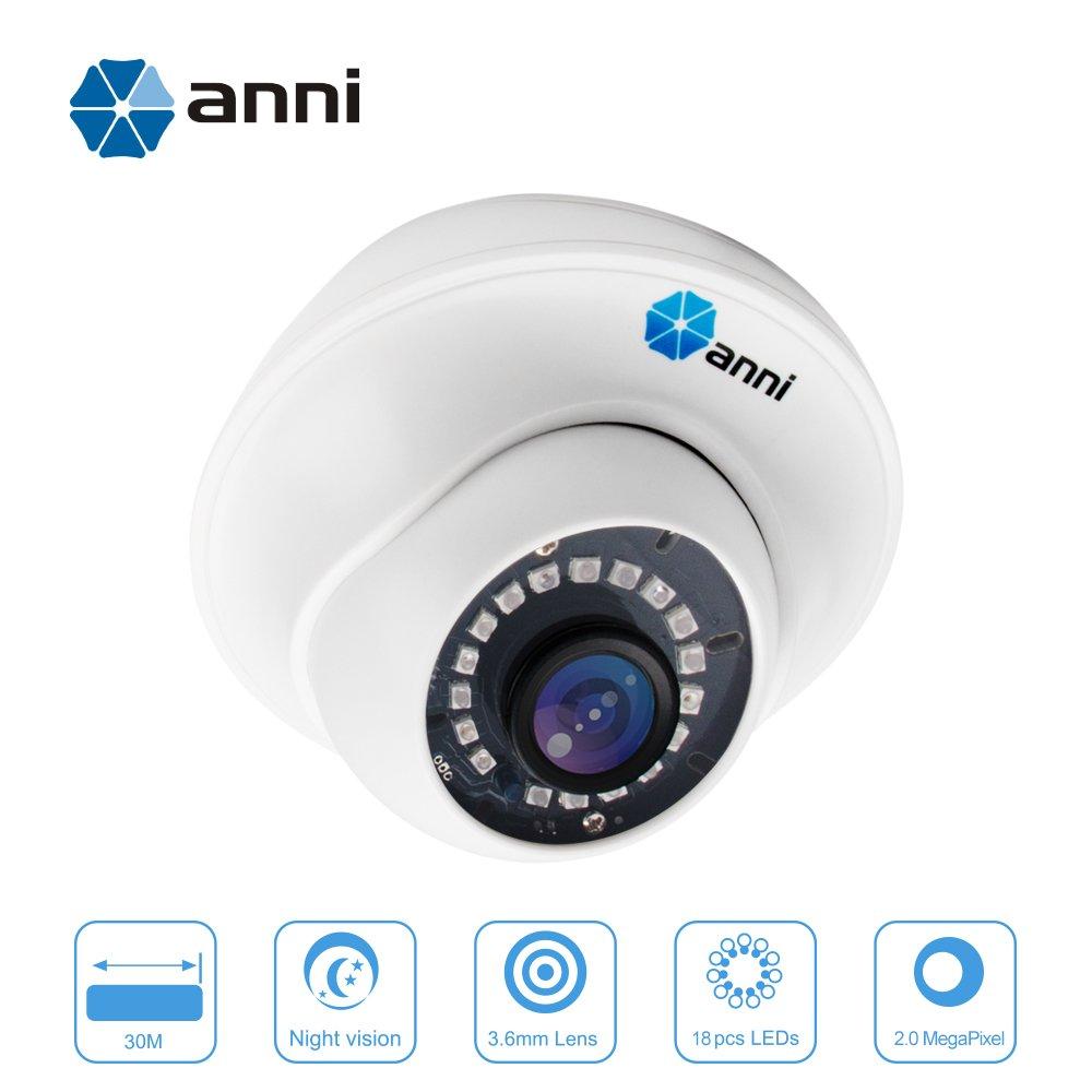 Anni 1080p HD de sécurité caméra dôme système CCTV caméras de sécurité système de Surveillance 3.6 mm Objectif Fixe avec 98ft Super Night Vision
