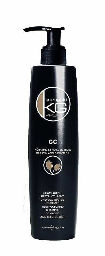 Keragold Pro CC Kératine - Champú reestructurante con queratina y aceite de ricino