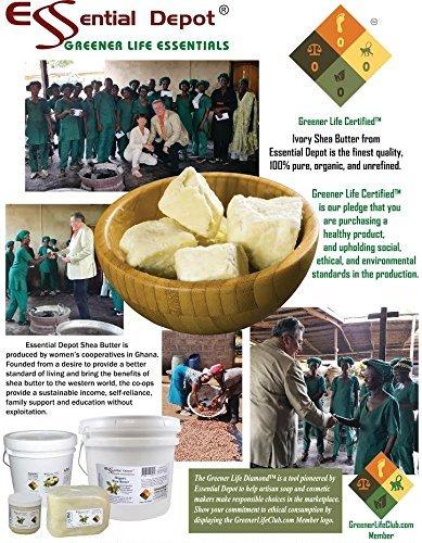 Shea Butter - Organic Grade A - Premium Unrefined - 1 Gallon (8 pounds) by Essential Depot (Image #7)