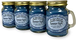 Our Own Candle Company Summer Night Scented Mini Mason Jar Candle, 3.5 Ounce (4 Pack)