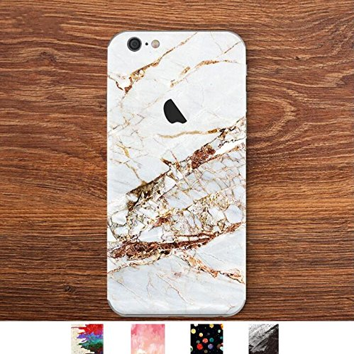 DowBier iPhone Bottom Decal Vinyl Skin Sticker Cover Anti-Scratch Decal for Apple iPhone (Classic Marble, iPhone 6 Plus/iPhone 6s Plus)