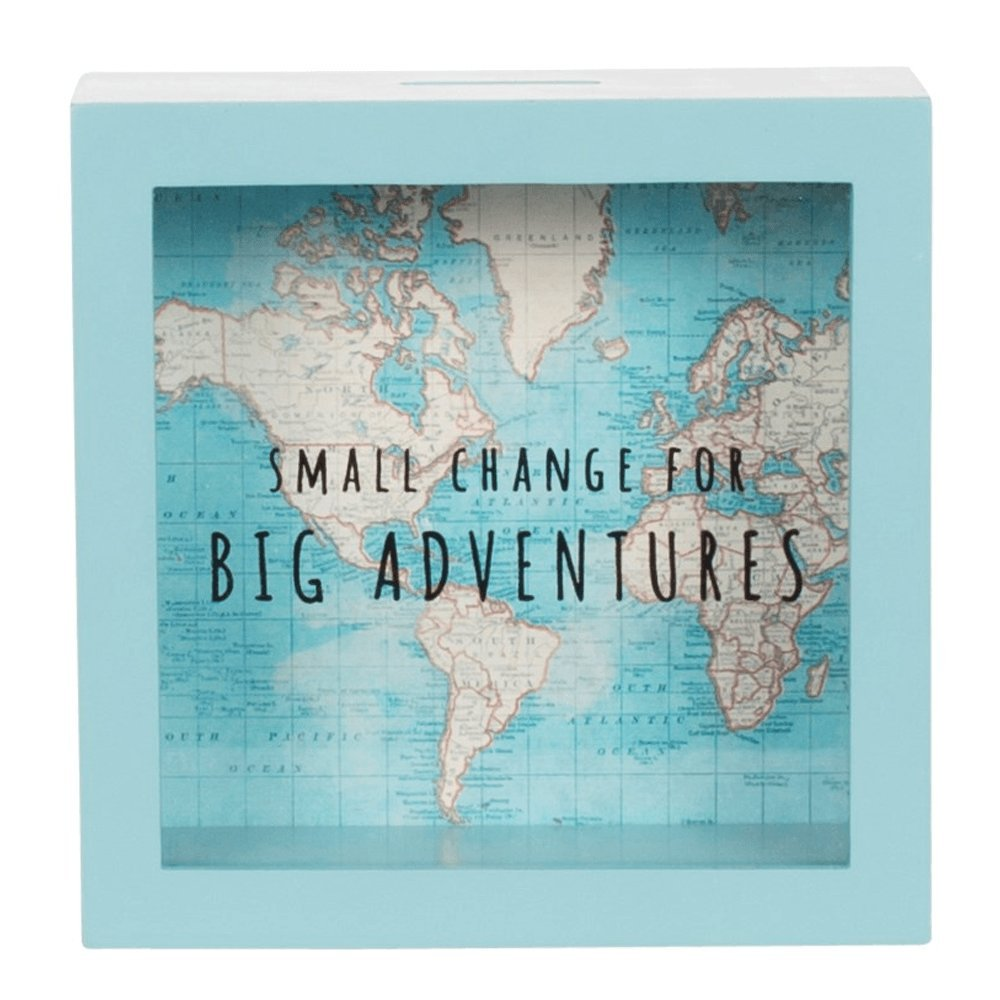 Sass & Belle - Salvadanaio vintage con mappa 'Big Adventures' B4E