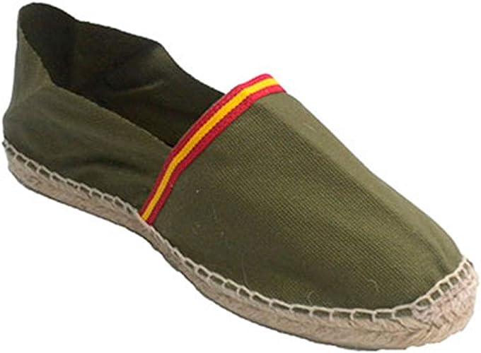 Alpargatas de Esparto Bandera de España Made in Spain en Kaki: Amazon.es: Zapatos y complementos