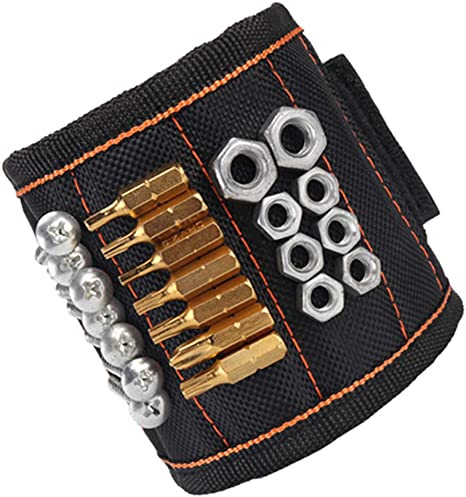 WARTOOL Magnetic Wristband Tool Belt with 5 Strong Magnets for Holding Screws