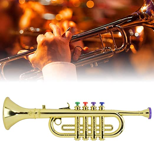 Wind Instrument Musical Instrument Toy Teaching Supplies for Stage Performances Kid Trumpet Rosvola Horn Musical Instrument Saxophone Trumpet