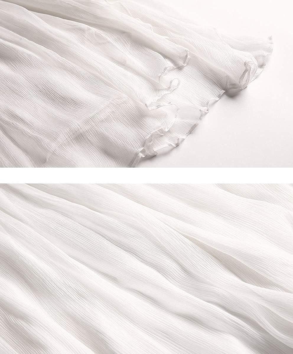 DISSA SB58031 Women Figure Flattering Sleeveless Silk Dress Irregular Long Dress