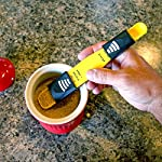 Home-X Adjustable Measuring Spoon. Yellow 4 THE ONLY MEASURING SPOON YOU'LL EVER NEED - Reduce kitchen drawer clutter by combining all teaspoon and tablespoon measurements into one handy tool. STURDY PLASTIC CONSTRUCTION - Easy to clean, and won't affect the flavors of your ingredients. Dishwasher safe. High-quality construction, long lasting and durable. ADJUST FOR ANY MEASUREMENT ¬- Simply slide the adjuster to your desired increment and scoop. Replaces 9 measuring spoons. One end measures 1/8 tsp, 1/4 tsp, 1/2 tsp, 3/4 tsp and 1 teaspoon. The other measures 1 tsp, 1-1/2 tsp, 2 tsp, 2-1/2 tsp, 1 tbsp.