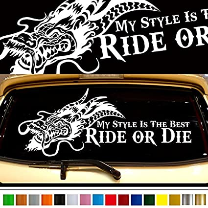 Dragon car rear sticker 38 car custom stickers decals 【8 colors to choose from】