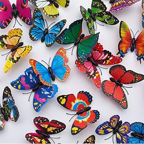 Onwon Garden Butterfly Stakes Decor - 30Pcs 7cm Butterfly Garden Ornaments, Indoor & Outdoor Yard Patio Planter Flower…