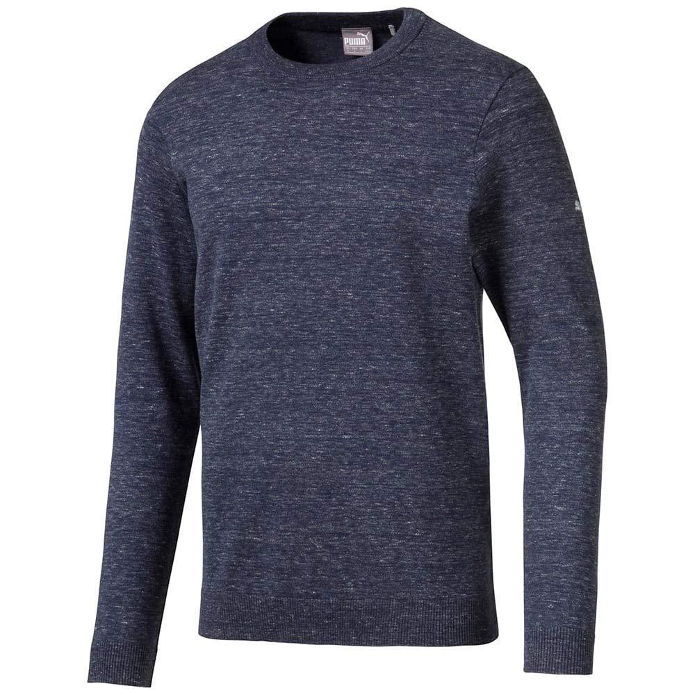 Puma Golf 2019 Men's Crewneck Sweater, PEACOAT HEATHER, Double x Large by PUMA