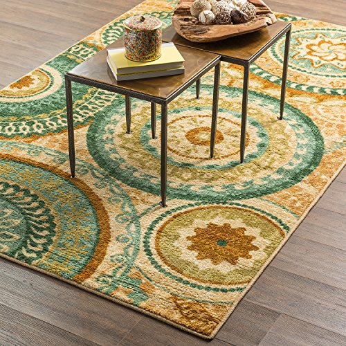Mohawk Home Strata Forest Suzani Medallion Printed Area Rug, 5u0027x8u0027,  Multicolor