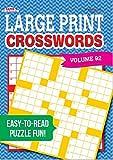Large Print Crosswords Puzzle Book-Volume 92