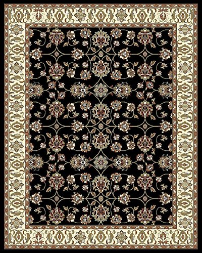 Large Rugs for Living Room 8x10 Black Area Rugs 8x11 Under 100 Prime Rugs (Black 8x10 Area Rug)