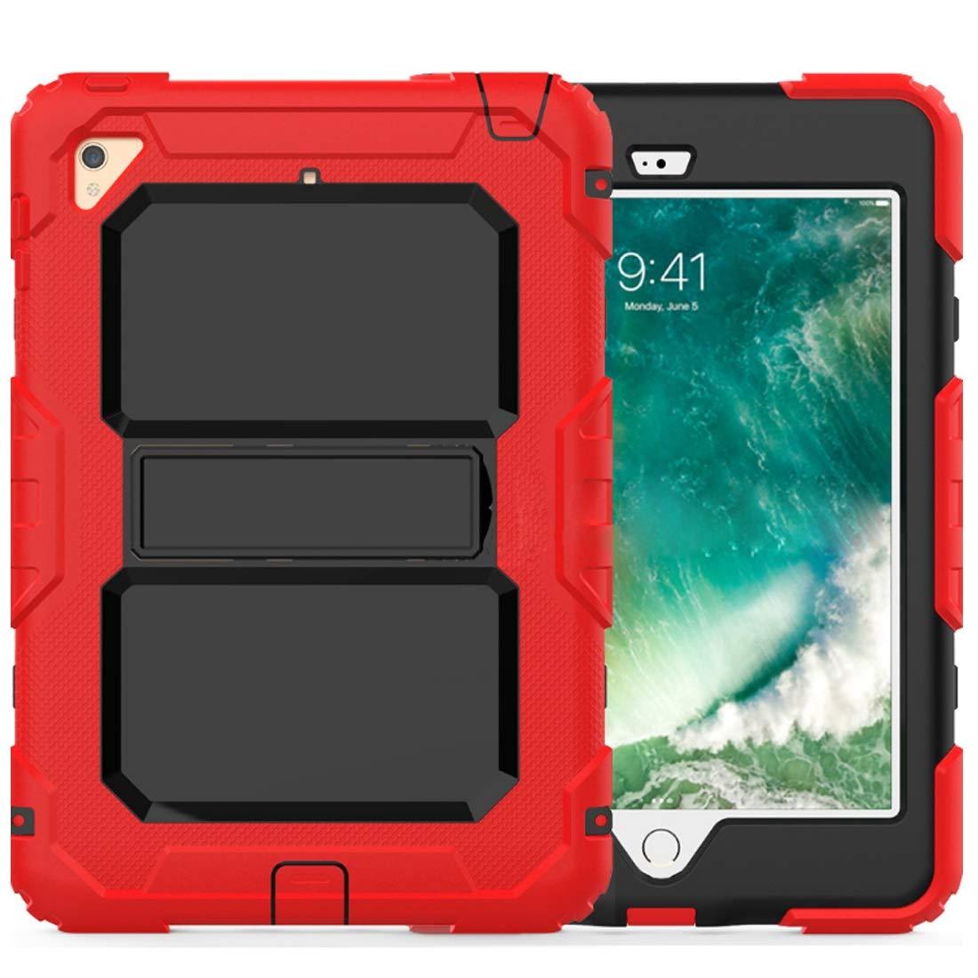 大注目 KRPENRIO iPad B07L89XJRD 9.7ケース 2018/2017 iPad iPad Mini対応 高耐久 Mini対応 フルボディ 頑丈 保護ケース スクリーンプロテクター内蔵 (色:レッド サイズ:iPad Air2) B07L89XJRD, キョウワマチ:ed6dbdd4 --- a0267596.xsph.ru