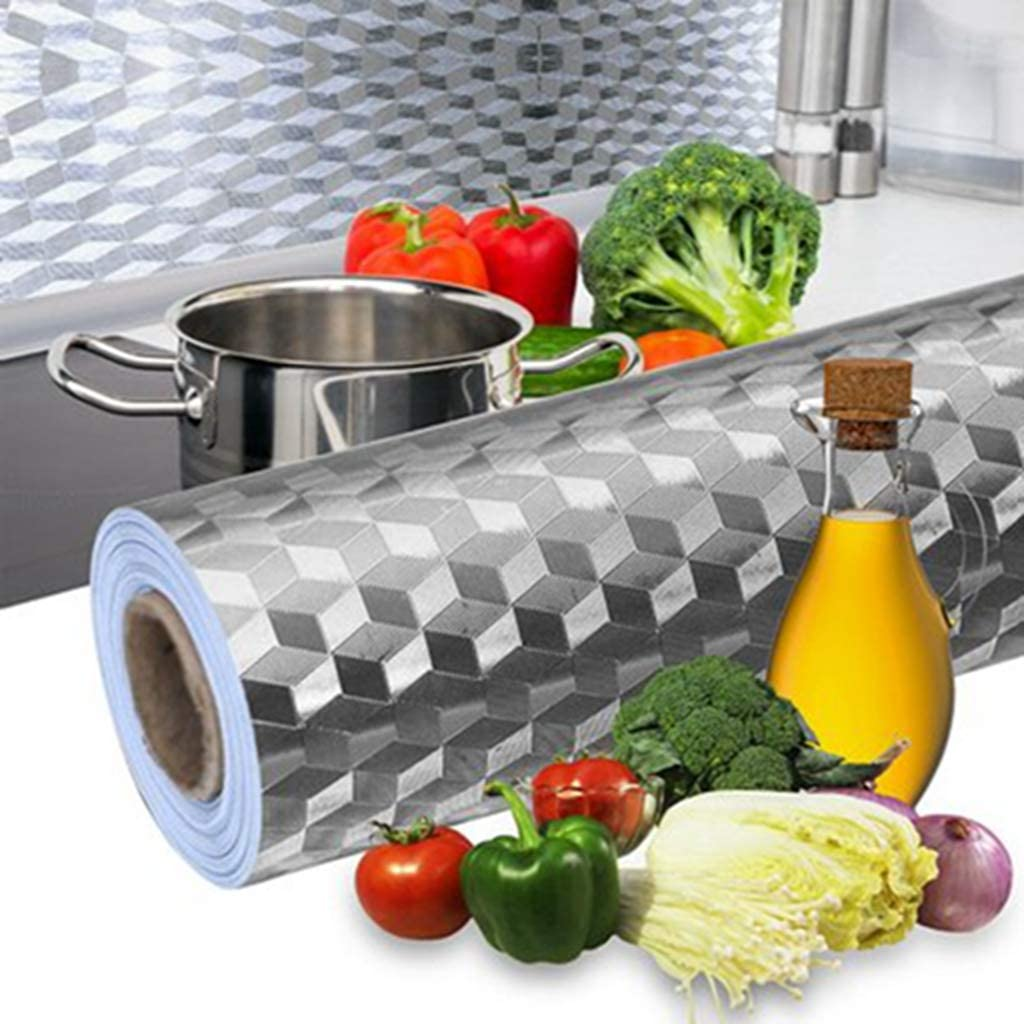 Home Kitchen Self Adhesive Oil Proof Stickers Wallpaper Waterproof Wall Sticker