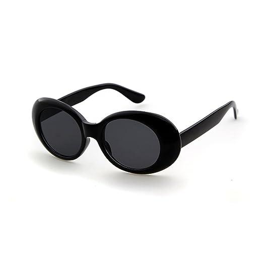 Amazon.com: Clout Goggles Oval Sunglasses Mod Style Retro Thick ...