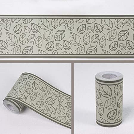 Frise De Papier Peint Autocollante En Forme De Feuille Pour